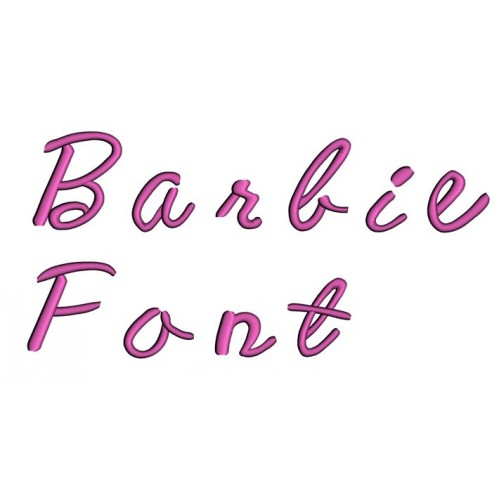 Barbie Embroidery Font Digitized Lower and Upper Case 1 2 3 inch Instant Download