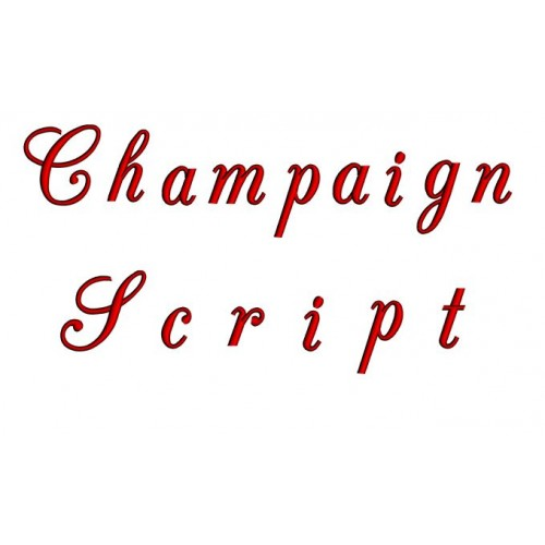 Champaign Embroidery Font Digitized Lower and Upper Case 1 2 3 inch Instant Download