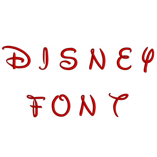 Disney Upper Case Embroidery Font Digitized  1 2 3 inch Instant Download