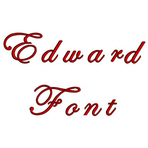 Edwardian Embroidery Font Digitized Lower and Upper Case 1 2 3 inch Instant Download