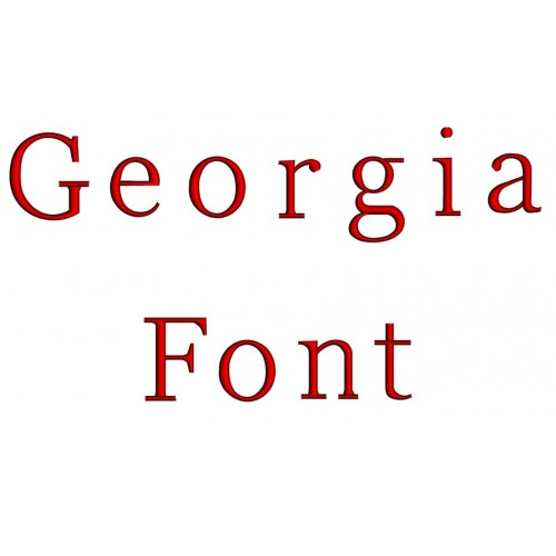 Georgia Embroidery Font Digitized Lower and Upper Case 1 2 3 inch Instant Download
