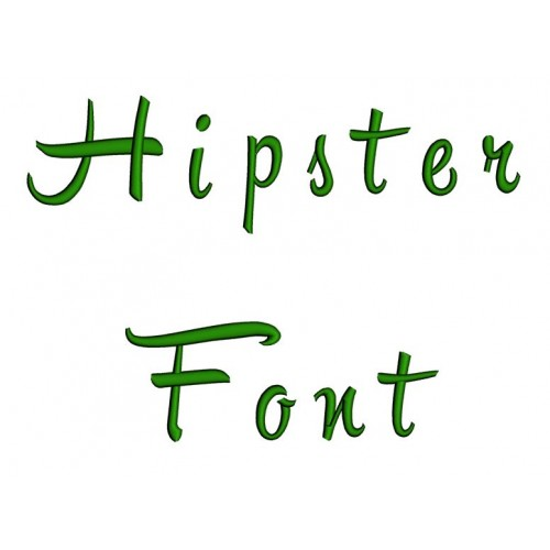 Hipster Embroidery Font Digitized Lower and Upper Case 1 2 3 inch Instant Download
