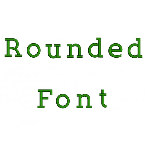 Rounded Embroidery Font Digitized Lower and Upper Case 1 2 3 inch Instant Download