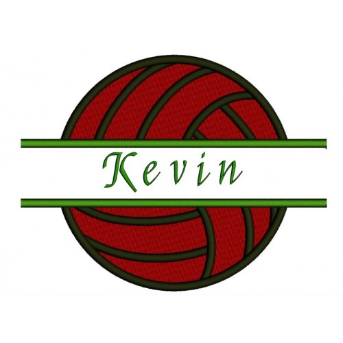 Volleyball Split Filled In Digitized Machine Embroidery Design Pattern