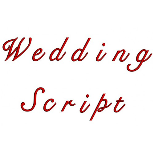 Wedding Embroidery Font Digitized Lower and Upper Case 1 2 3 inch Instant Download