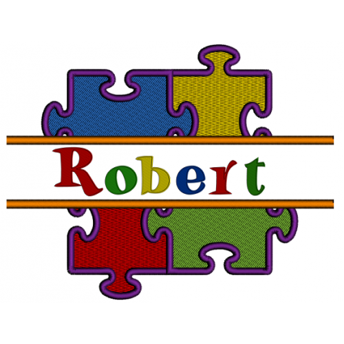 Autism Awareness Puzzle Split Filled Machine Embroidery Digitized Designs