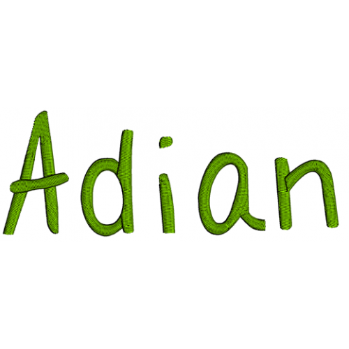 Adian Script Machine Embroidery Font Upper and lower case